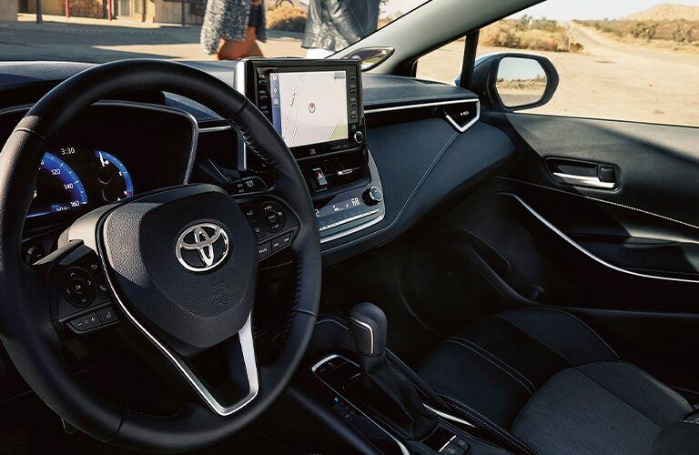 Interior cockpit of a 2021 Toyota Corolla Hatchback