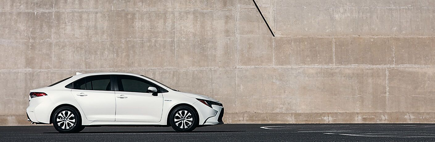 Side view of 2021 Toyota Corolla Hybrid