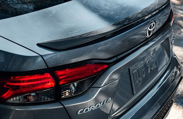 Rear end and badge of a 2021 Corolla