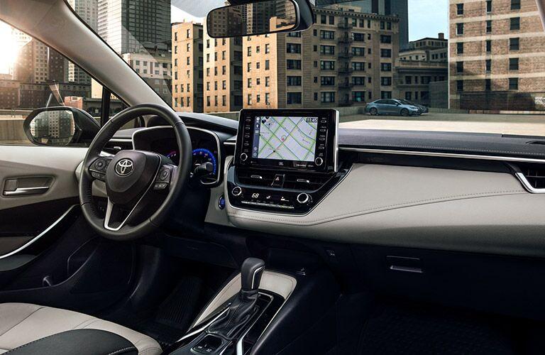 Interior cabin of 2021 Toyota Corolla