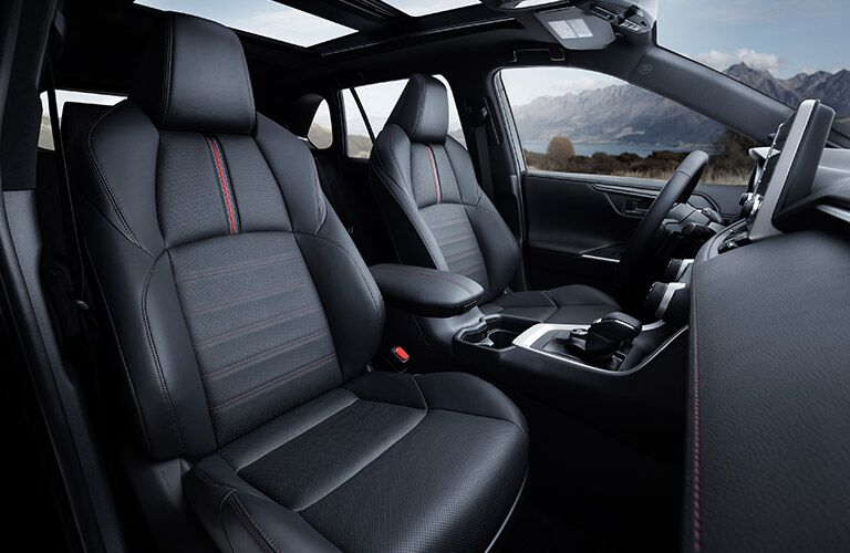 Interior front seat of a 2021 Toyota RAV4 Prime