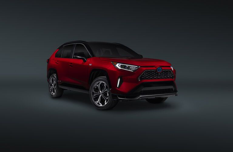2021 Toyota RAV4 Prime floats in a grey void