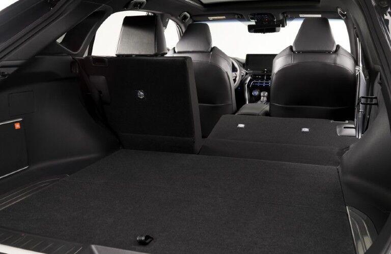 Rear cargo area inside 2021 Toyota Venza
