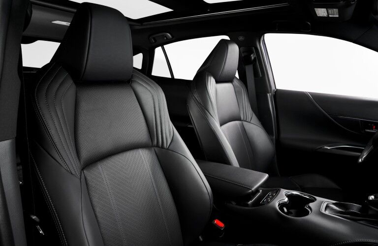 Interior front seats of 2021 Toyota Venza