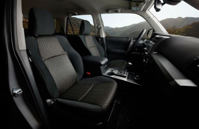 Side view of front seat inside 2021 Toyota 4Runner