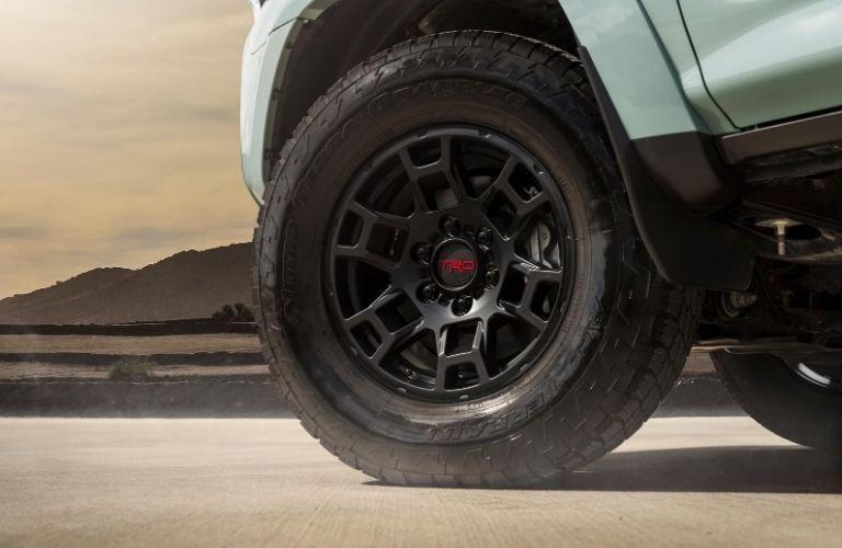 Front wheel slightly turned on 2021 Toyota 4Runner