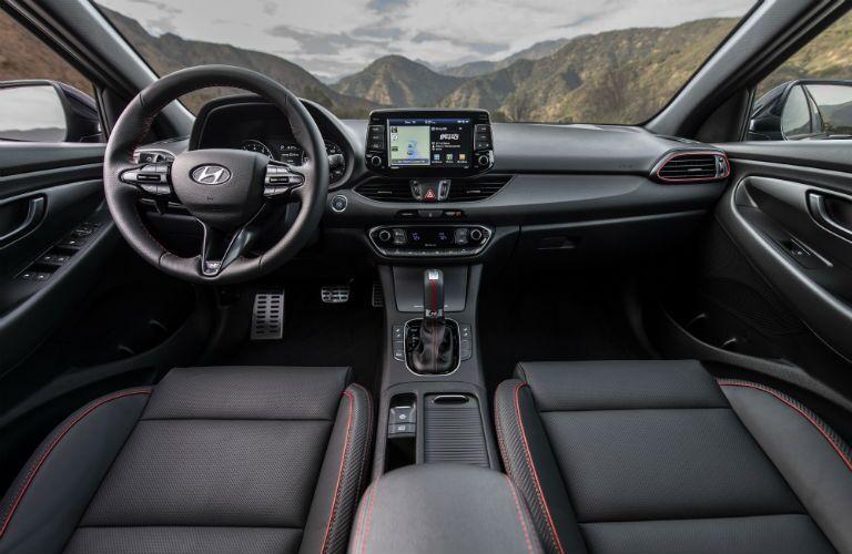 front interior of a 2019 Hyundai Elantra GT N Line