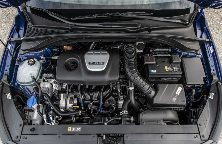 under the hood of a 2019 Hyundai Elantra GT N Line