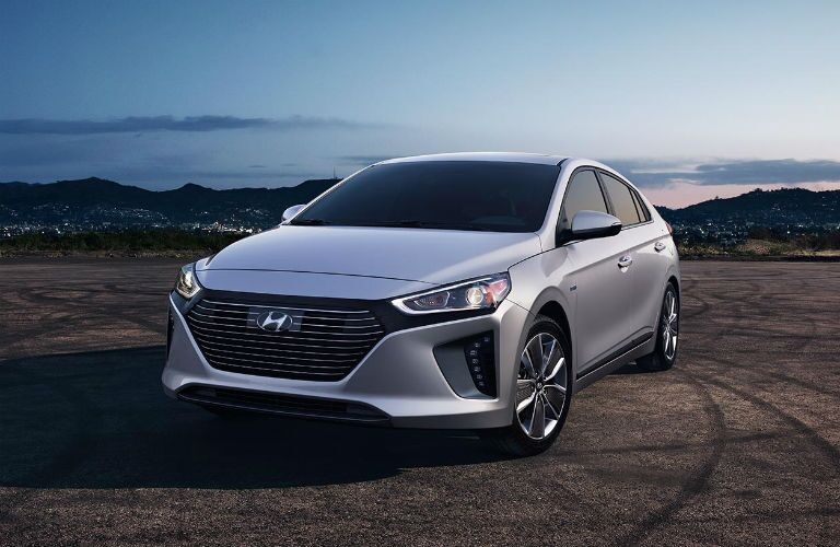 front view of a silver 2019 Hyundai Ionic Plug-In Hybrid