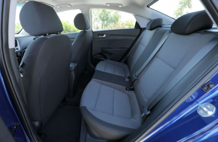 rear passenger space in a 2020 Hyundai Accent