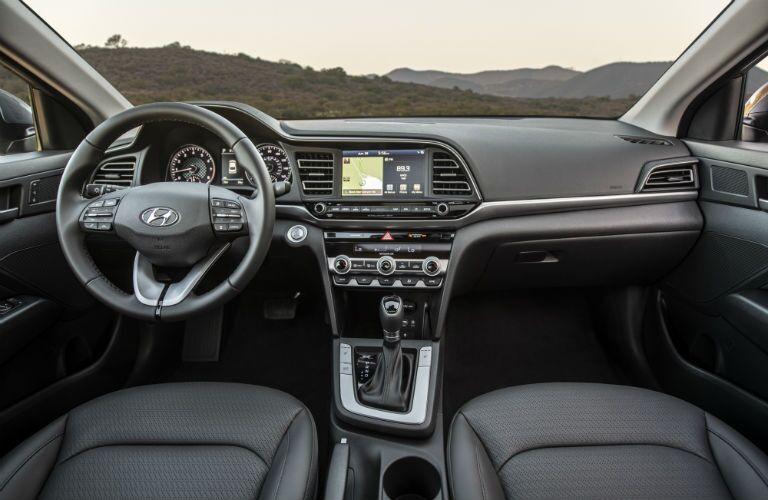 front interior of a 2020 Hyundai Elantra Sport