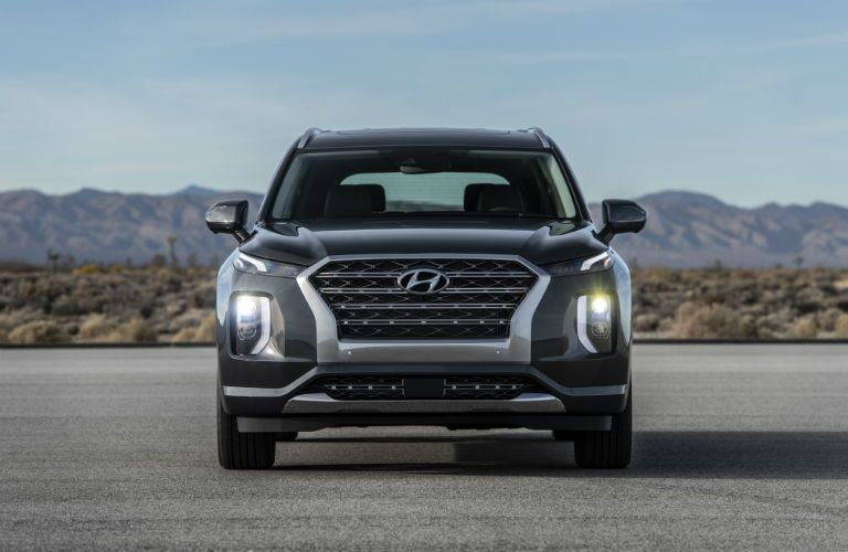 front view of a black 2020 Hyundai Palisade