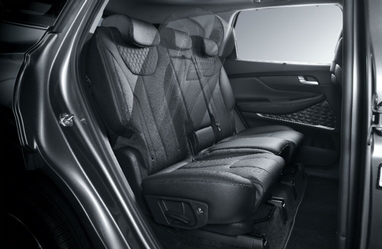 rear interior of a 2020 Hyundai Santa Fe