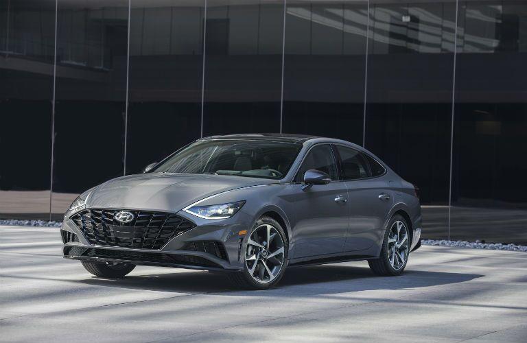 front view of a silver 2020 Hyundai Sonata