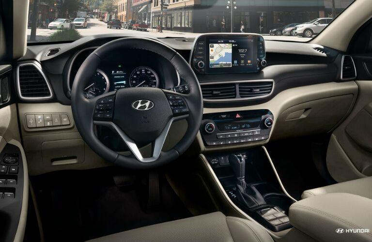 Cockpit of a 2021 Hyundai Tucson