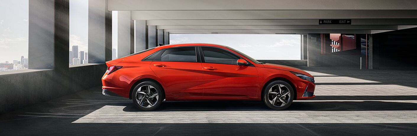 Side view of 2021 Hyundai Elantra