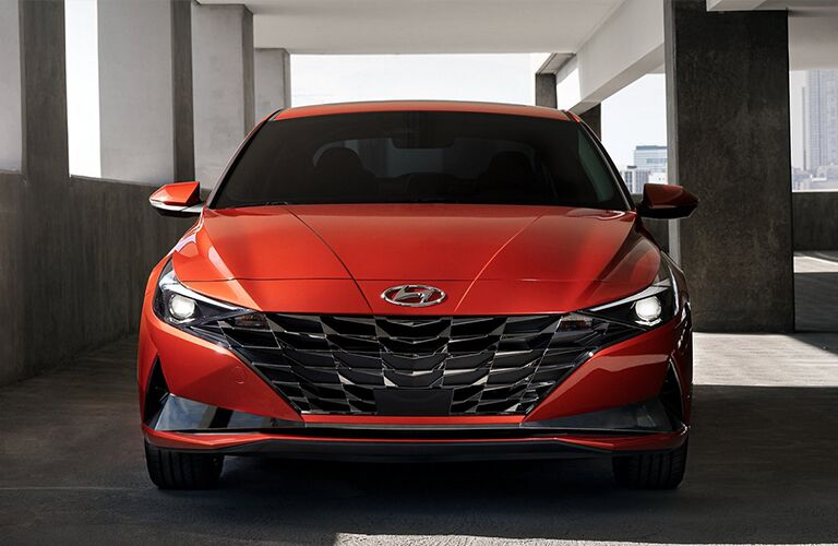 Head-on view of 2021 Hyundai Elantra