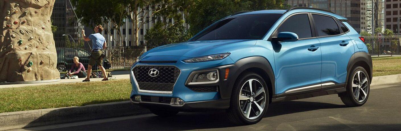 Blue 2021 Hyundai Kona