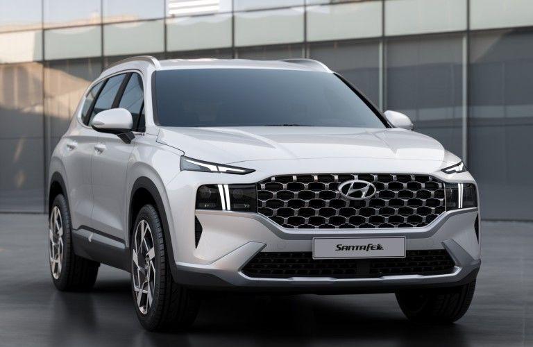 Front/side view of 2021 Hyundai Santa Fe