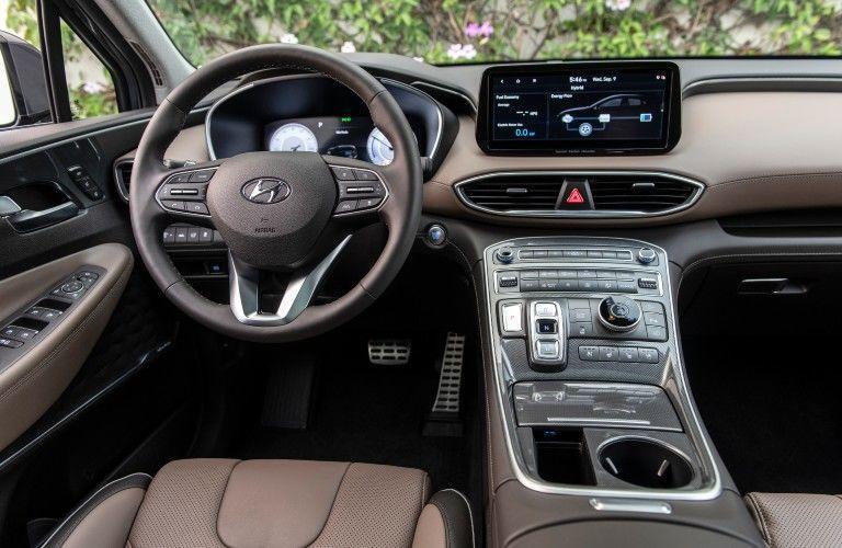 Interior cockpit of 2021 Hyundai Santa Fe