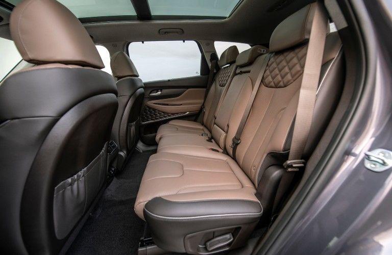 Side view of back row of 2021 Hyundai Santa Fe