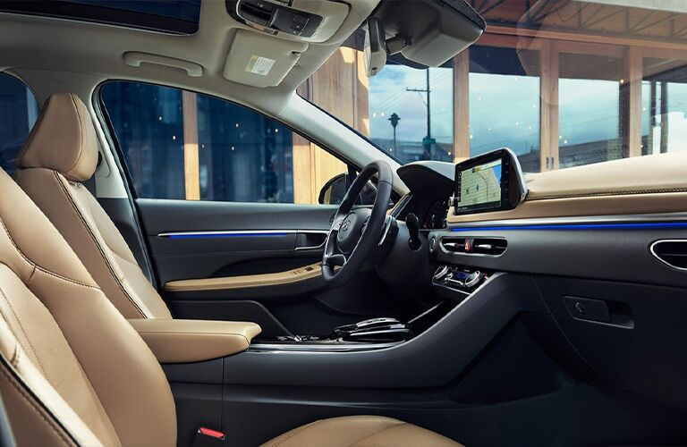 Interior front cockpit of 2021 Hyundai Sonata