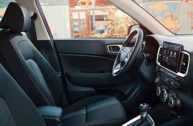 Interior cockpit of a 2021 Hyundai Venue