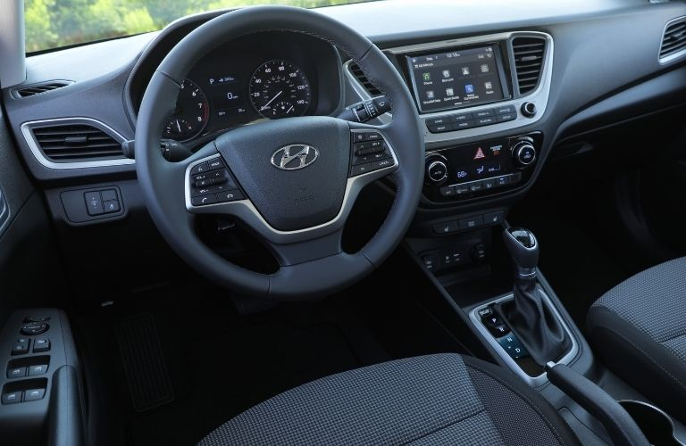 2021 Hyundai Accent center console