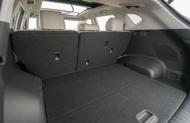 Rear cargo area of a 2021 Hyundai Tucson