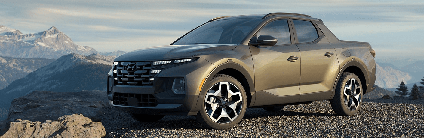2022 Hyundai Santa Cruz on a mountain top