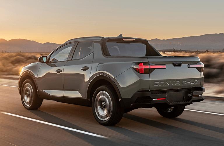 2022 Hyundai Santa Cruz rolls along a desert highway