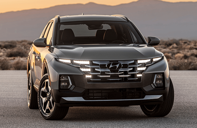 2022 Hyundai Santa Cruz in a desert