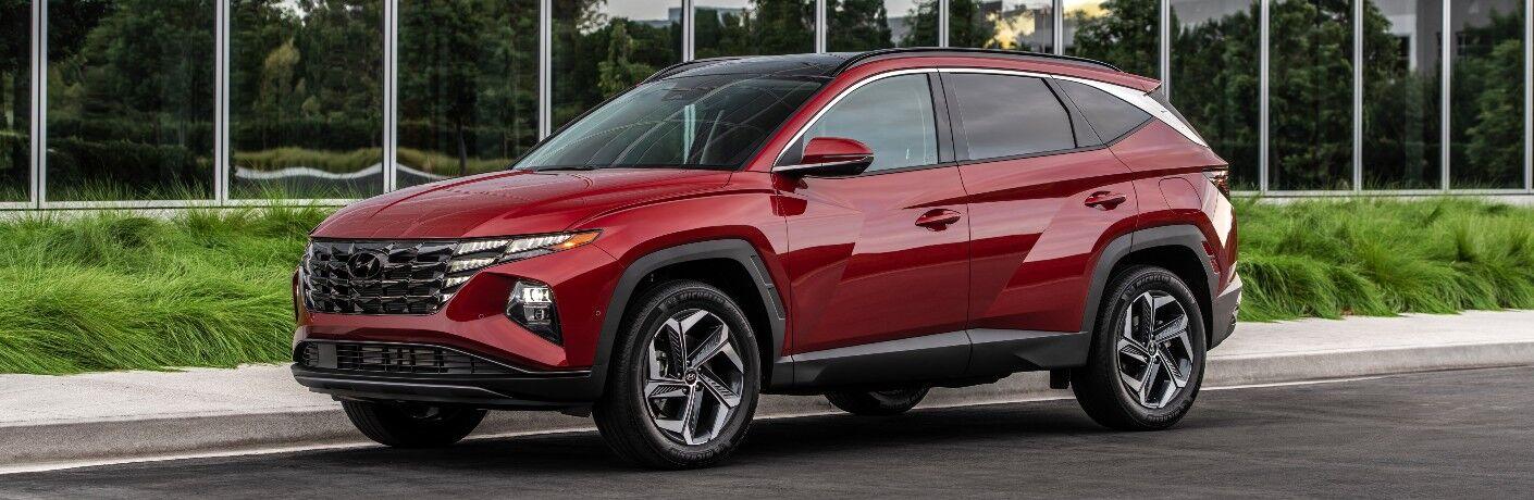 2022 Hyundai Tucson parked by a curb