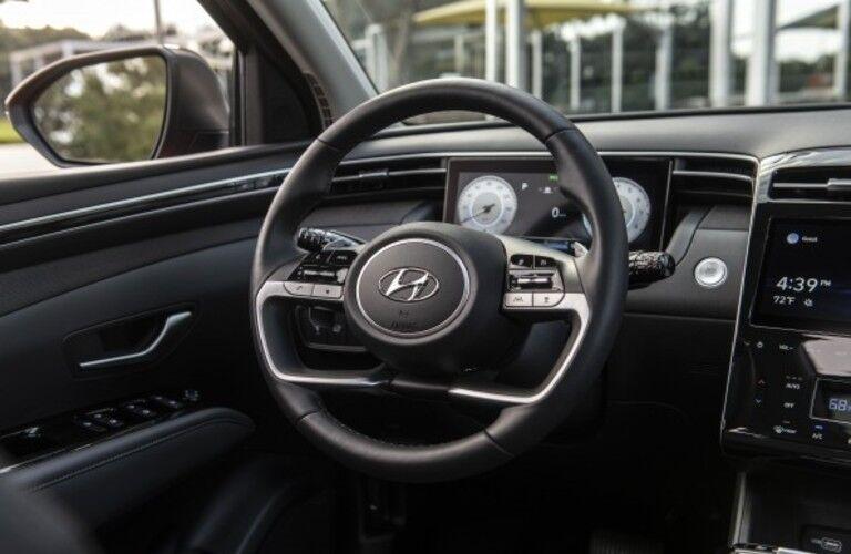 Interior front cockpit of 2022 Hyundai Tucson