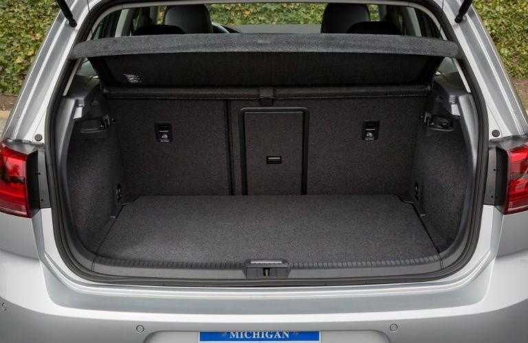 rear cargo area in a 2019 VW e-Golf