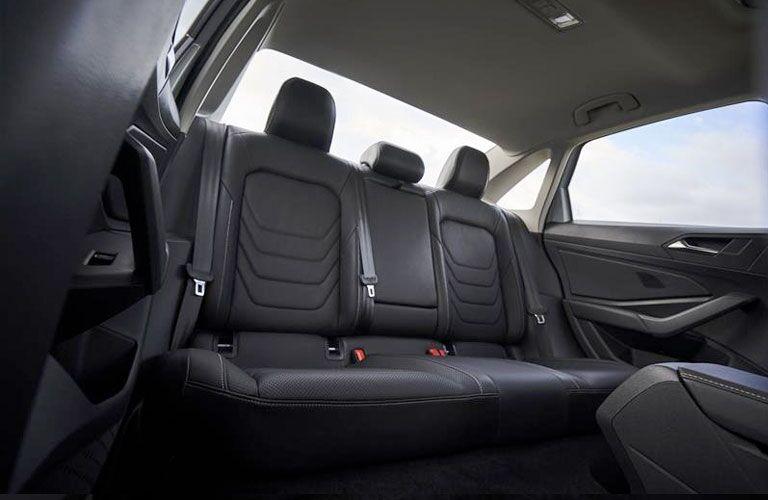 Rear seat of a 2020 VW Jetta