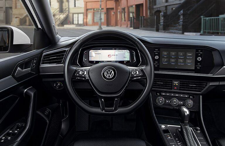 Interior cockpit of a 2021 Volkswagen Jetta
