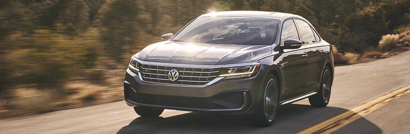 2021 Volkswagen Passat cruises up a highway