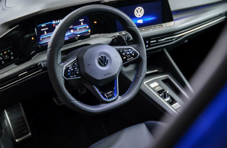 Interior cockpit of 2022 Volkswagen Golf R