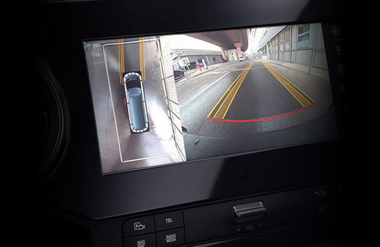 Back-up camera inside Mercedes-Benz Sprinter
