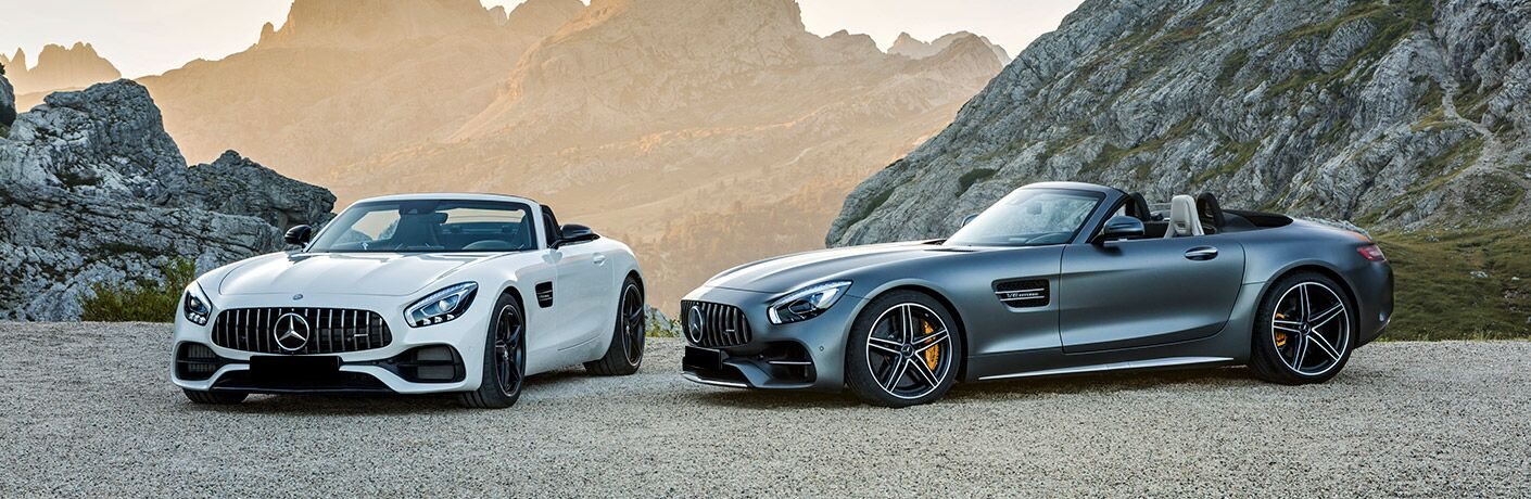 two 2019 Mercedes-AMG GT Roadster models