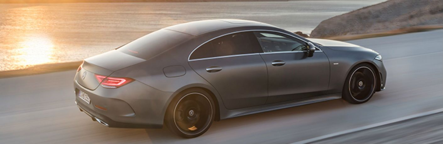 side view of a gray 2019 Mercedes-Benz CLS