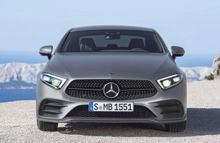 front view of a silver 2019 Mercedes-Benz CLS