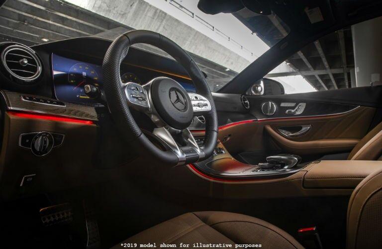front interior of a 2019 Mercedes-Benz E-Class sedan