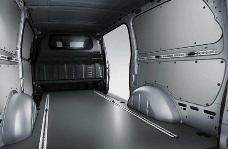 Rear region interior of a Mercedes-Benz Metris Cargo Van