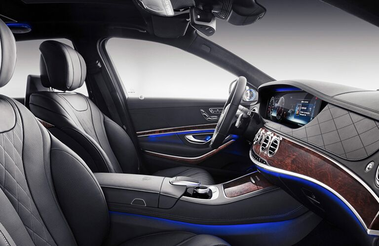 side view of the front interior of a 2019 Mercedes-Benz S-Class