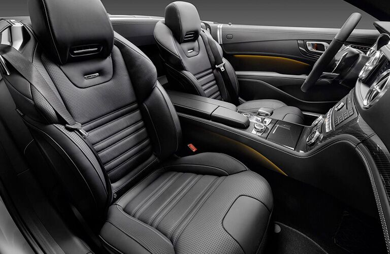 side view of the front interior of a 2019 Mercedes-Benz SL Roadster