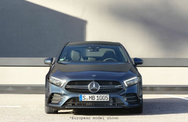 front view of a silver 2020 Mercedes-Benz A-Class