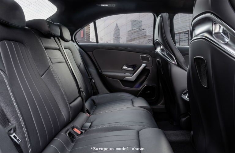 rear passenger space in a 2020 Mercedes-Benz A-Class
