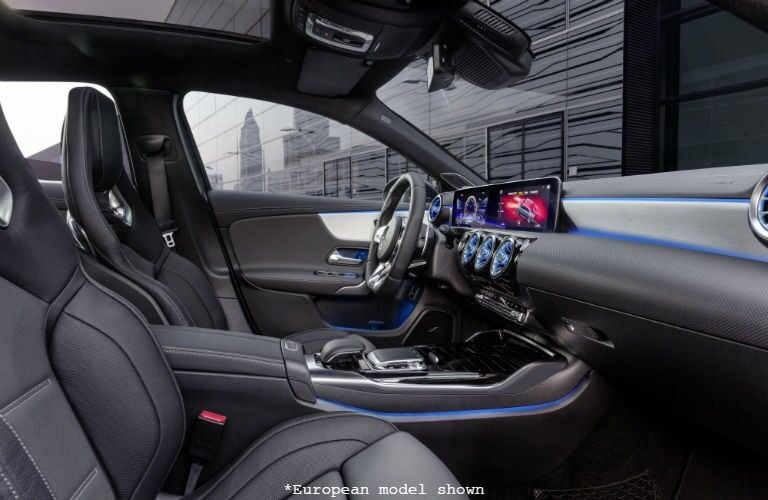 front interior of a 2020 Mercedes-Benz A-Class